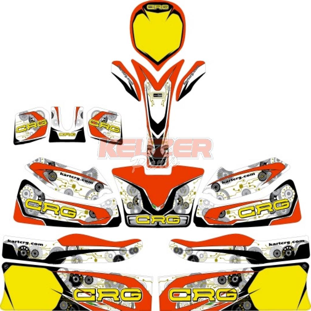 Keijzer Racing Parts  402938 stickerset new age CRG 2016