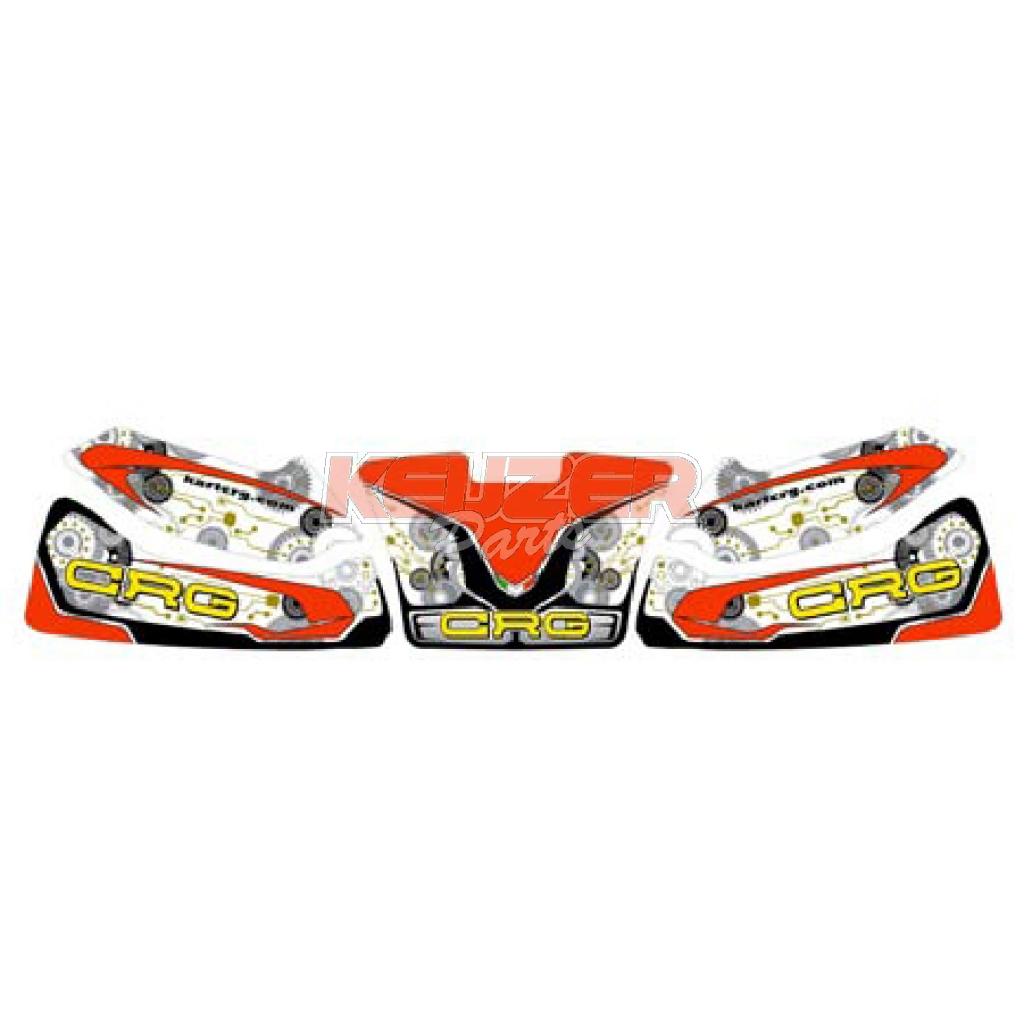 Keijzer Racing Parts  402940 CRG spioler stickerset new age 2016