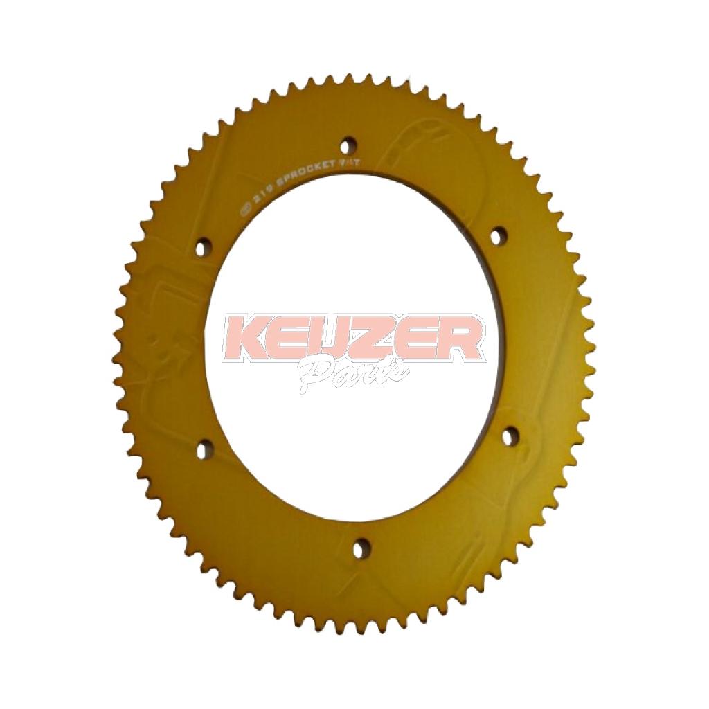 Keijzer Racing Parts  402984 Tandwiel 219 75T goud