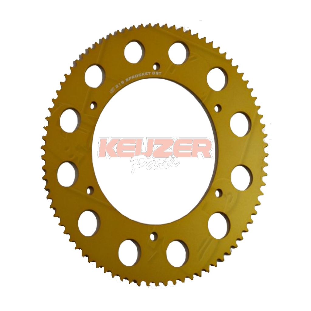 Keijzer Racing Parts  402994 Tandwiel 219 80T goud