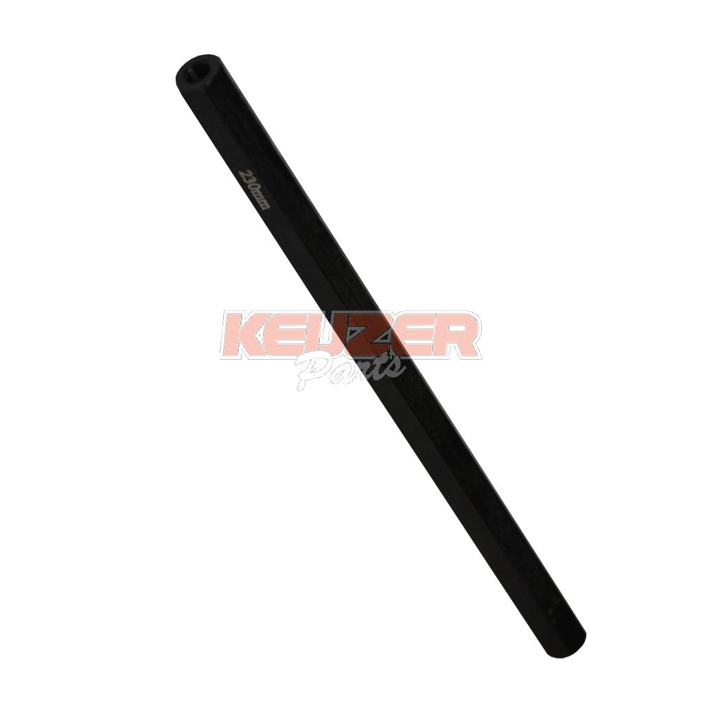 Keijzer Racing Parts  403074 spoorstang 230MM zwart