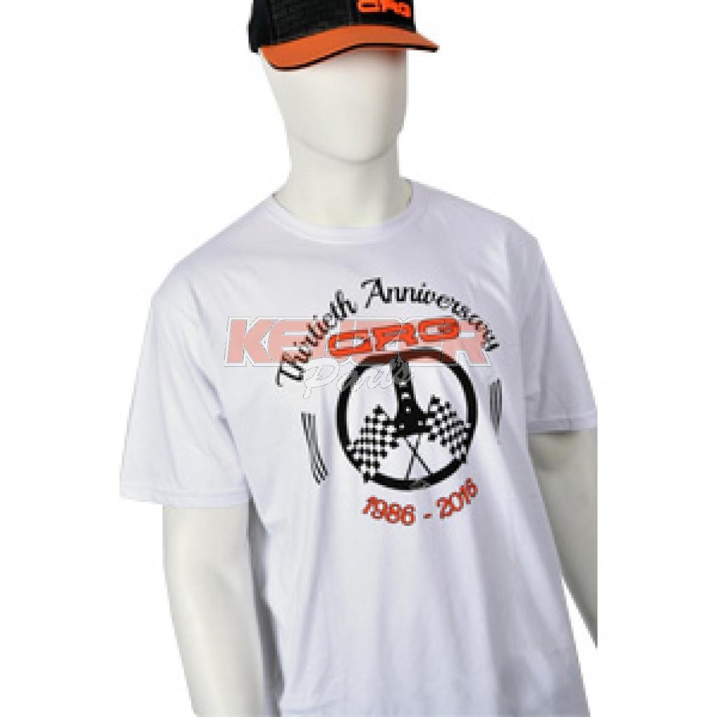 C.R.G. SpA AAC.30090 CRG wit T-shirt 30 jarig bestaan